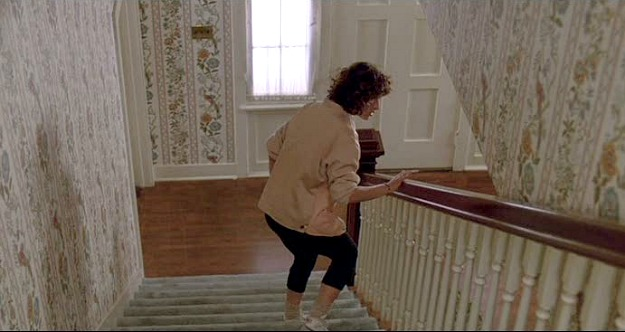 Ferris Bueller's wallpapered staircase