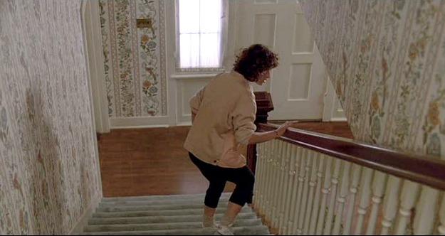 Ferris Bueller's wallpapered staircase