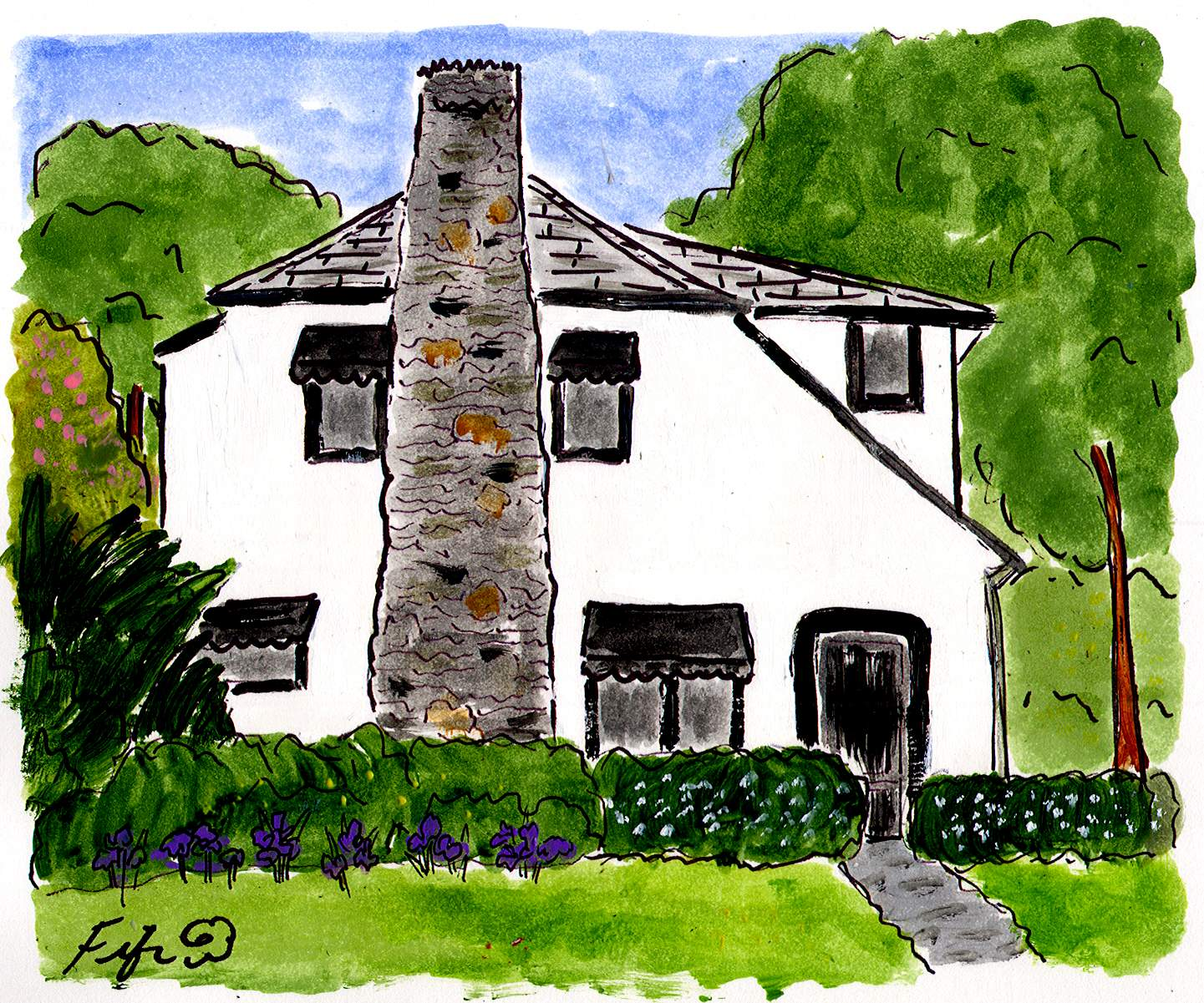 Hooked on House Portraits (& Giveaways!) - Hooked on Houses