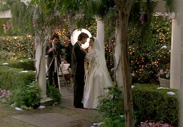 Father of the Bride backyard-bride groom arbor
