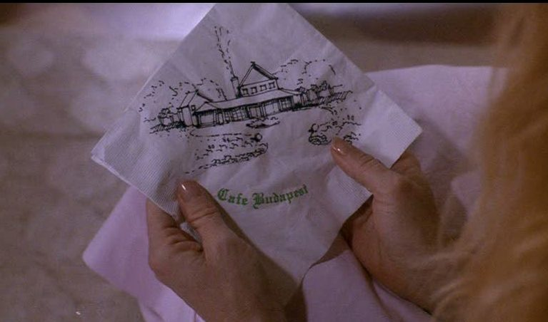 napkin with drawing of house