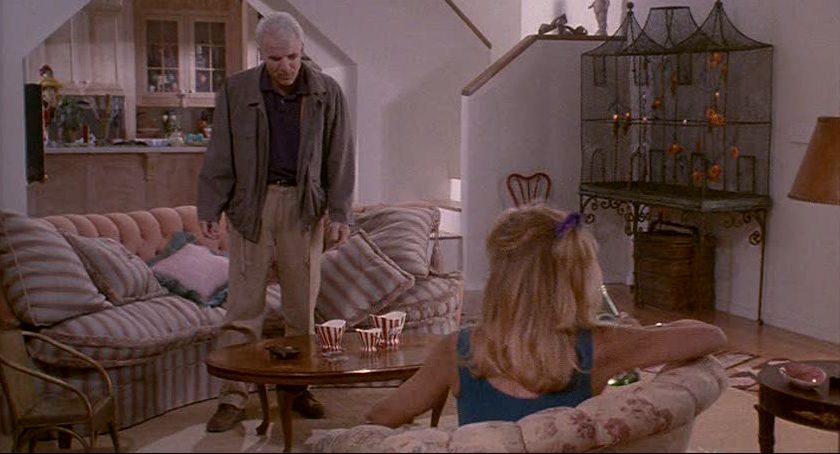 Steve Martin standing in living room