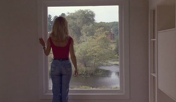 Housesitter movie house second floor window