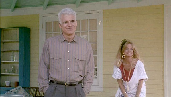 Housesitter movie yellow house front porch