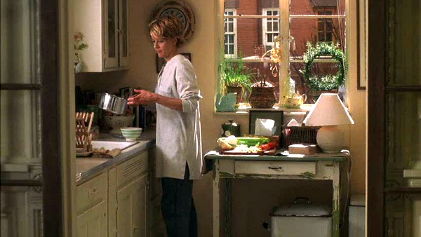 Meg Ryan's brownstone kitchen You've Got Mail