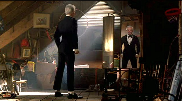 Steve Martin in the attic-Father of the Bride house