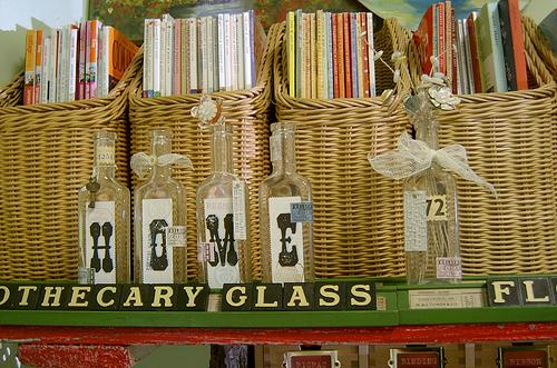baskets holding magazines