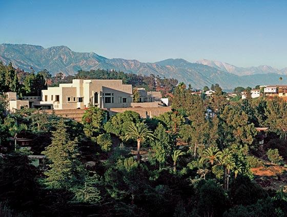 Frank Lloyd Wright's Ennis House in Los Angeles