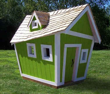 Woodwork building plans crooked playhouses pdf plans for Whimsical playhouses