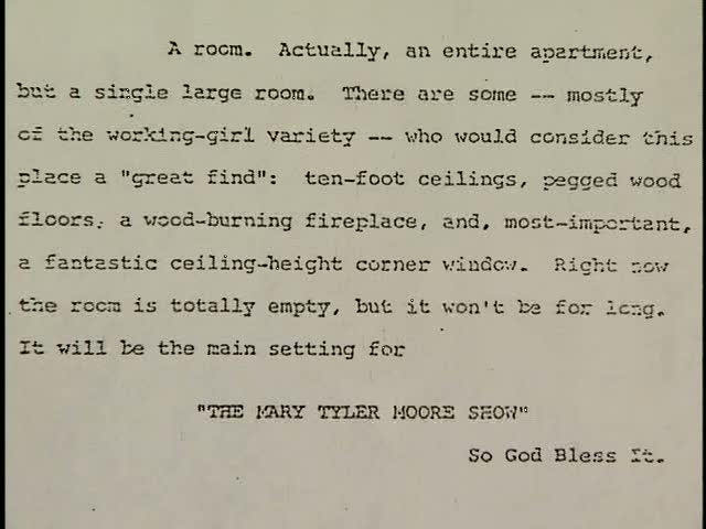 the set description for Mary Richards\' apartment on the Mary Tyler Moore Show