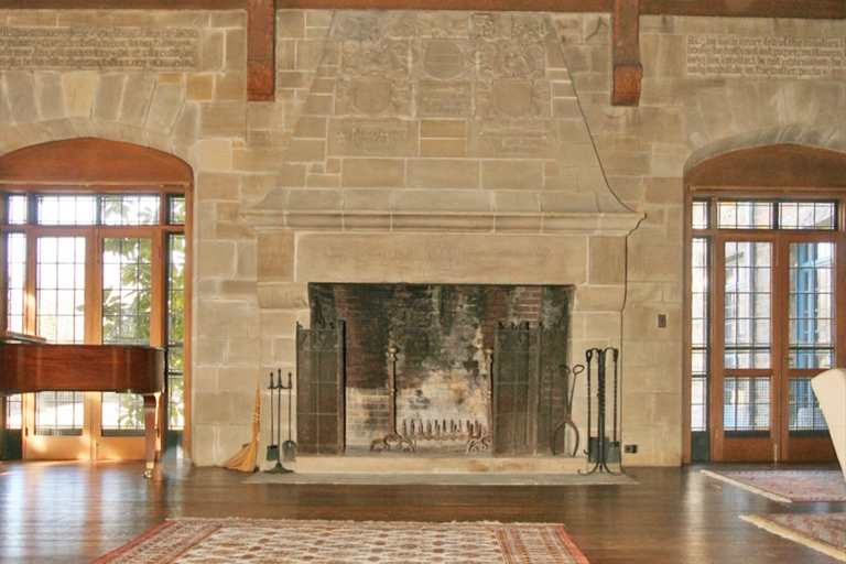 Cobble court a french norman country estate in ohio for French country stone fireplace