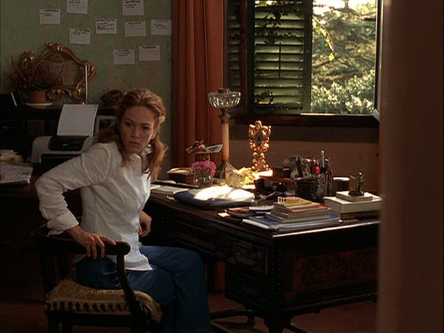 Diane Lane in home office
