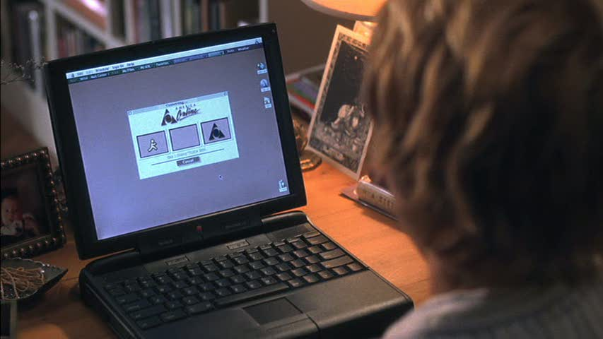 AOL screen on laptop computer