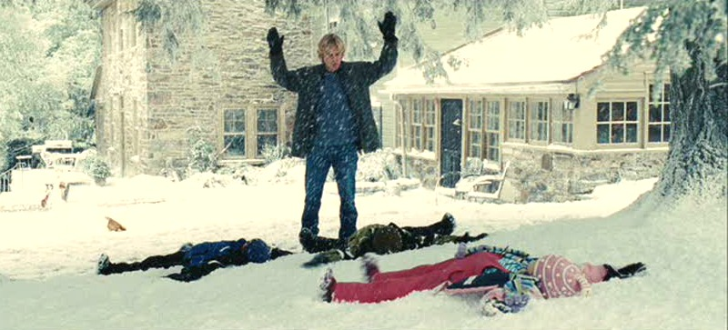 Owen Wilson Marley & Me screenshot stone farmhouse snow