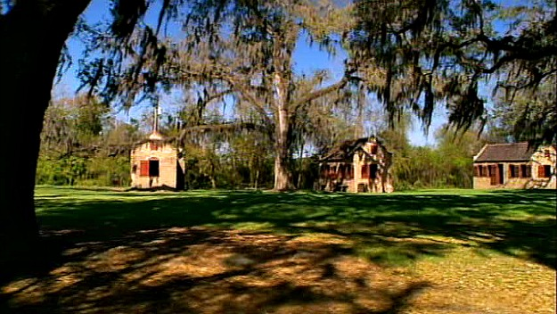Boone Hall Plantation\'s former slave cabins