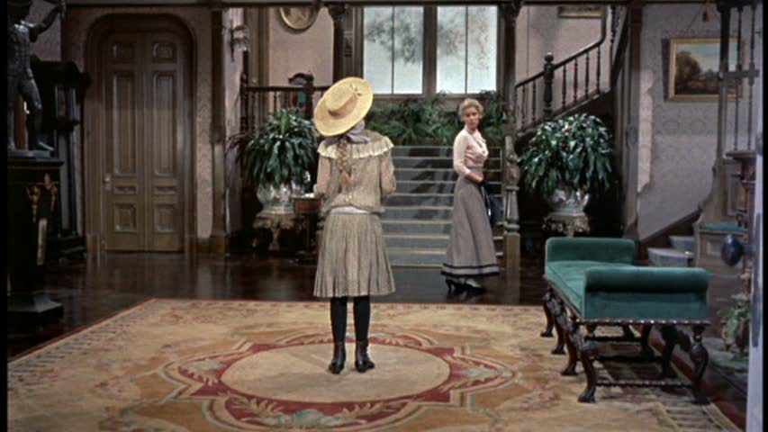 Pollyanna movie house entry hall set design