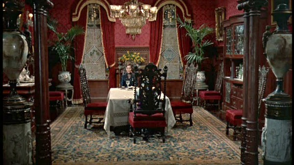 Pollyanna movie red dining room