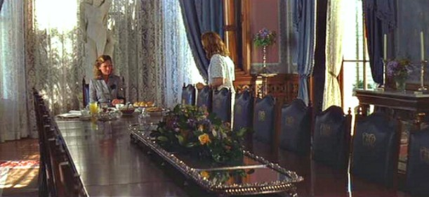 long dining table in Allie\'s mansion