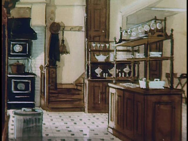 illustration-kitchen back stairs for Pollyanna