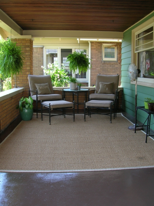 front porch with outdoor seating