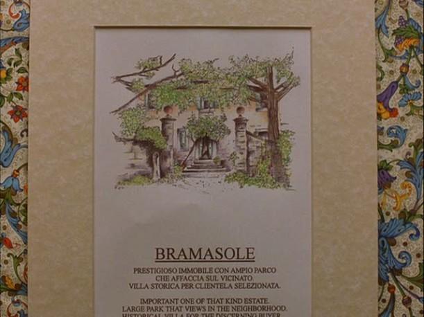 sign advertising Villa Bramasole in Under the Tuscan Sun