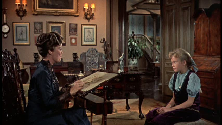 sitting room in pollyanna movie