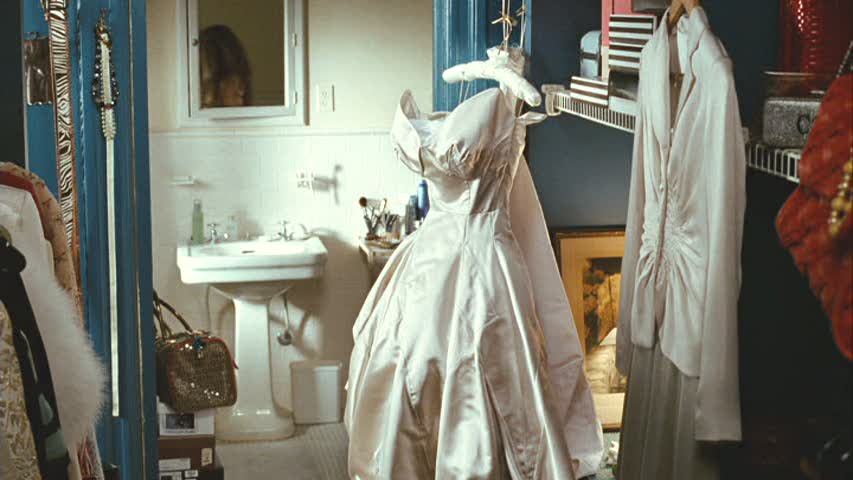 Carrie Bradshaw's Closet with Wedding Gown