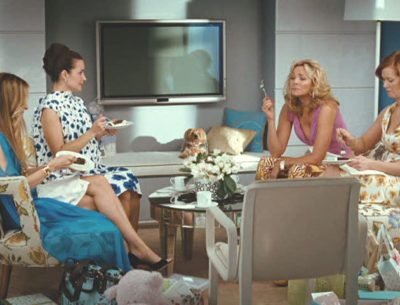 Carrie Bradshaw's Apartment living room in Sex and the City Movie