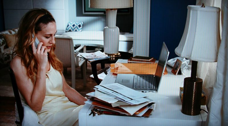 Carrie Bradshaw Writing Desk Blue Apartment SatC