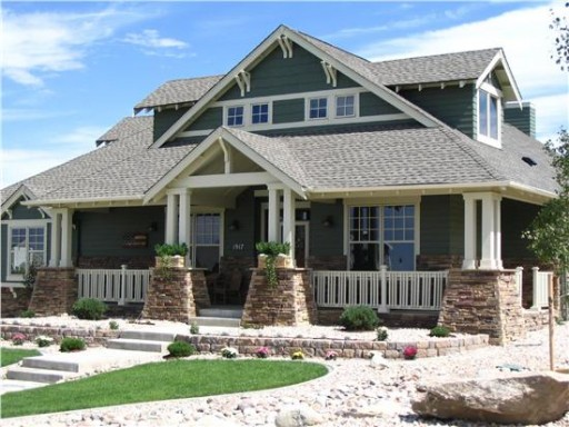 The bungalow home style is similar to the arts and crafts home.