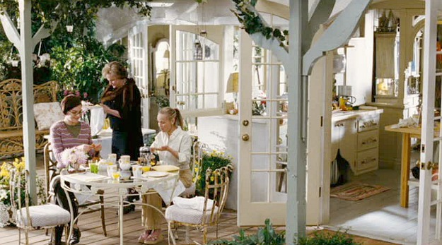 Bewitched movie house patio