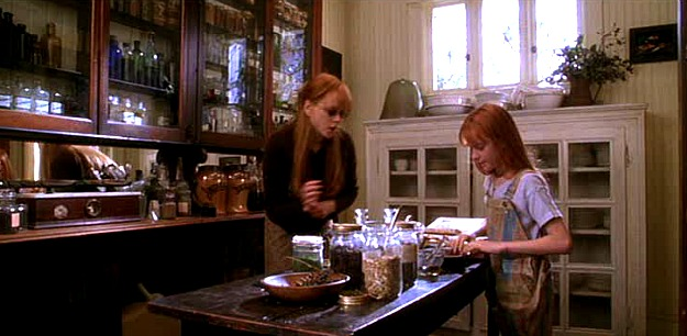 Nicole Kidman and Evan Rachel Wood potions room