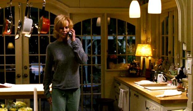Nicole Kidman in the Bewitched movie kitchen