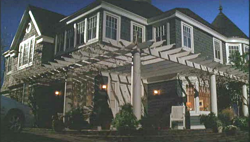 What Lies Beneath movie house front door with pergola