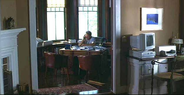 looking into Harrison Ford's home office WLB