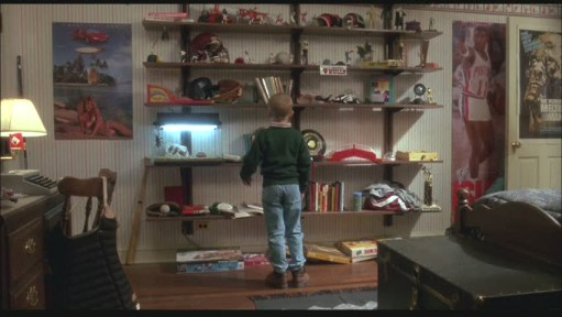 Buzz's bedroom shelves