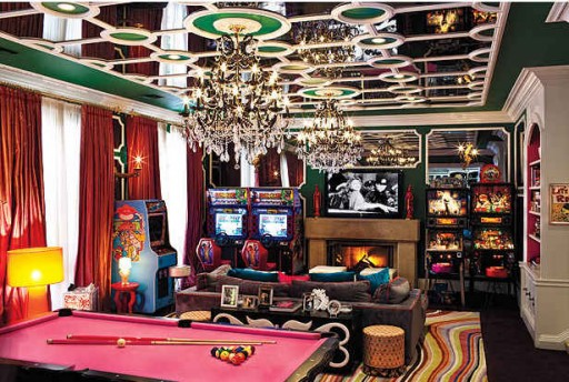 Christina Aguilera's game room