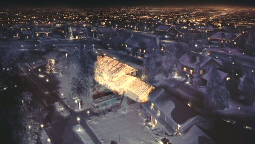 The Griswold's home from above!