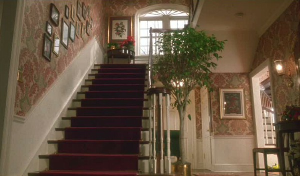 Home Alone house entry and staircase