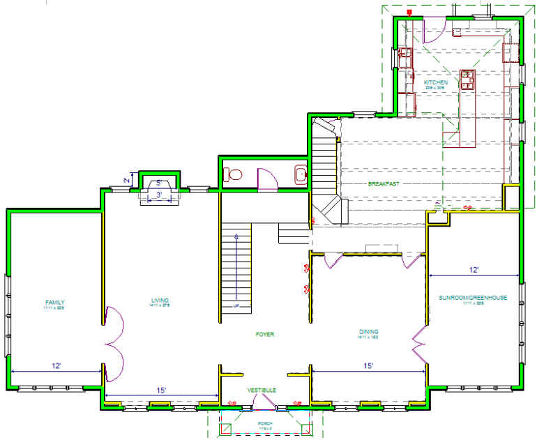 Home Alone house floor plan-first floor 2