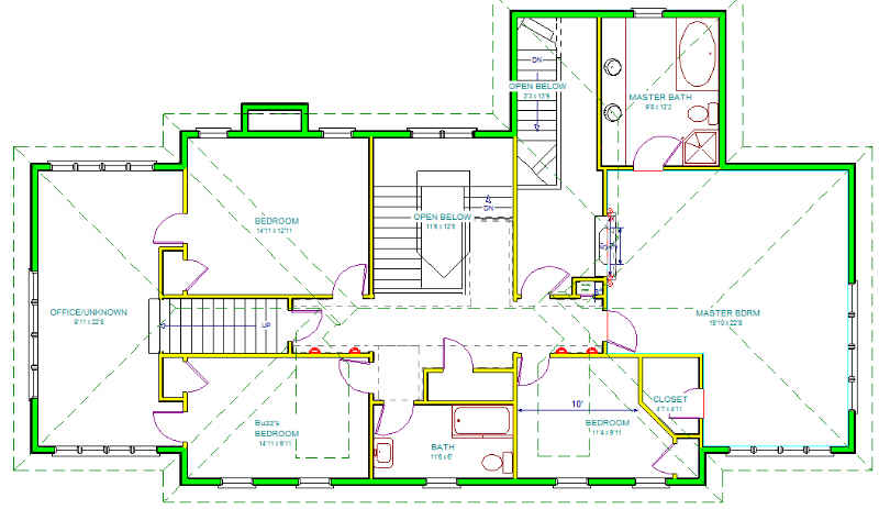 Page 2 pretty neat some hand drawn floorplans of some for Upstairs house plans