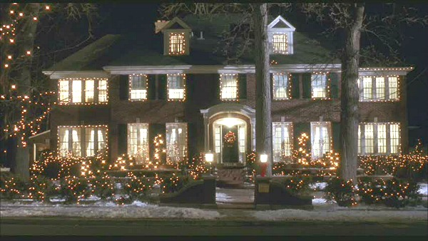 Home Alone movie house Christmas lights