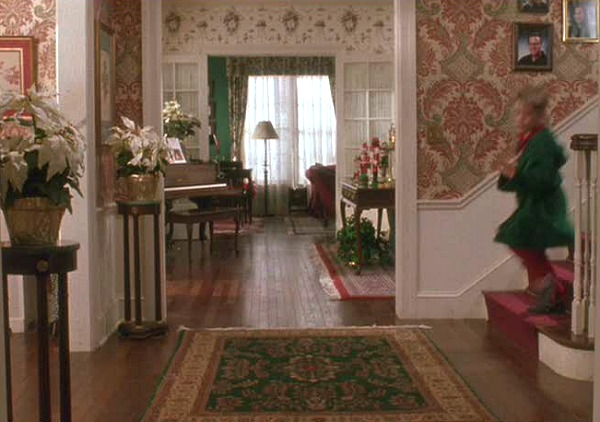 Home Alone movie house front hall