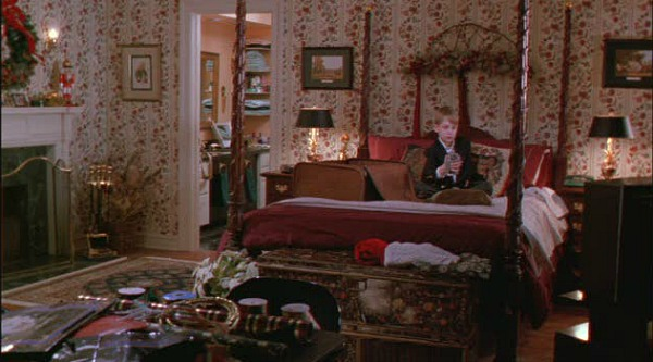 Kevin in his parents' bedroom Home Alone