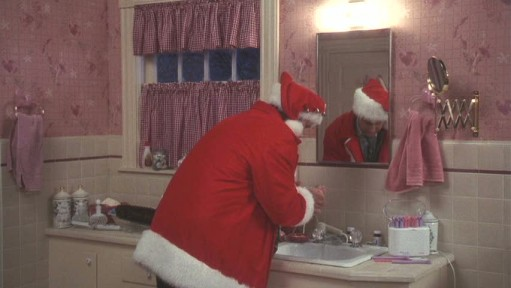 Santa suit-bathroom