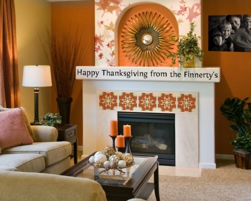 Thanksgiving mantel