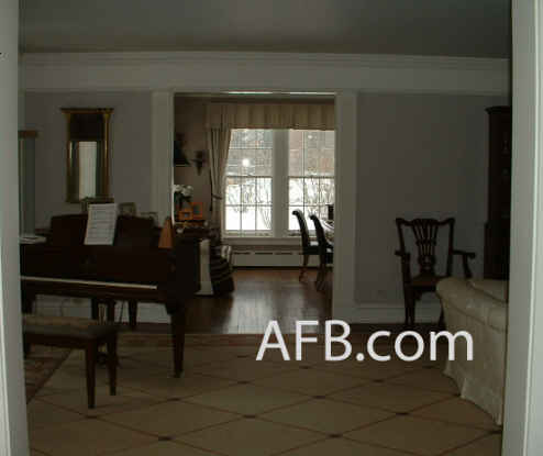 View in real house into piano room