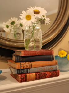 books on my mantel