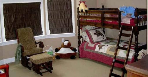 bunk beds in boys room