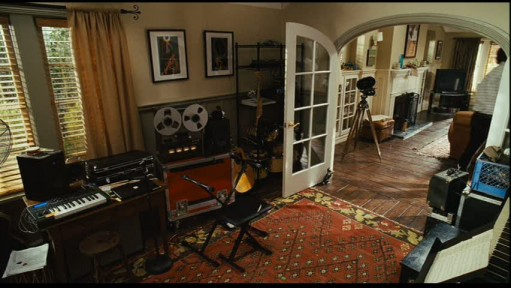 Dave\'s study filled with music equipment